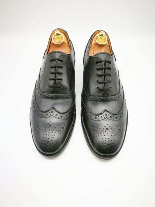Black Oxford Brogue rubber sole