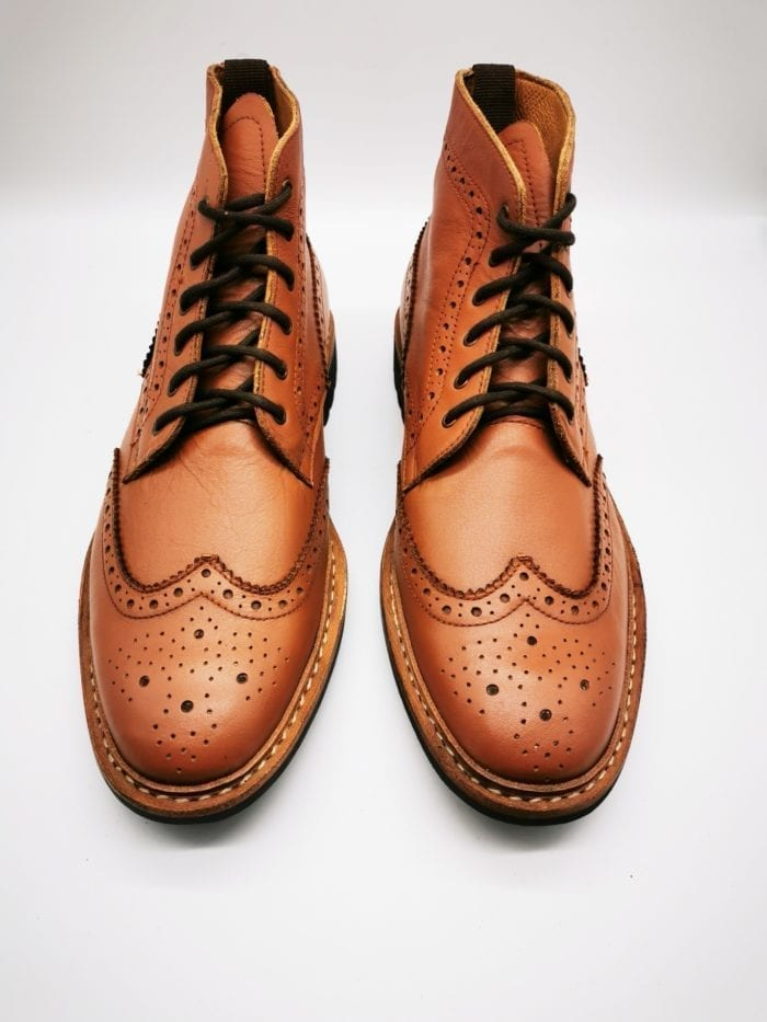 Tan Brogue Boot
