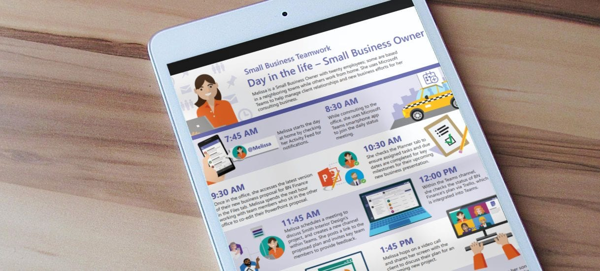 Infographic: How Microsoft Teams provides business tools designed to work the way you do