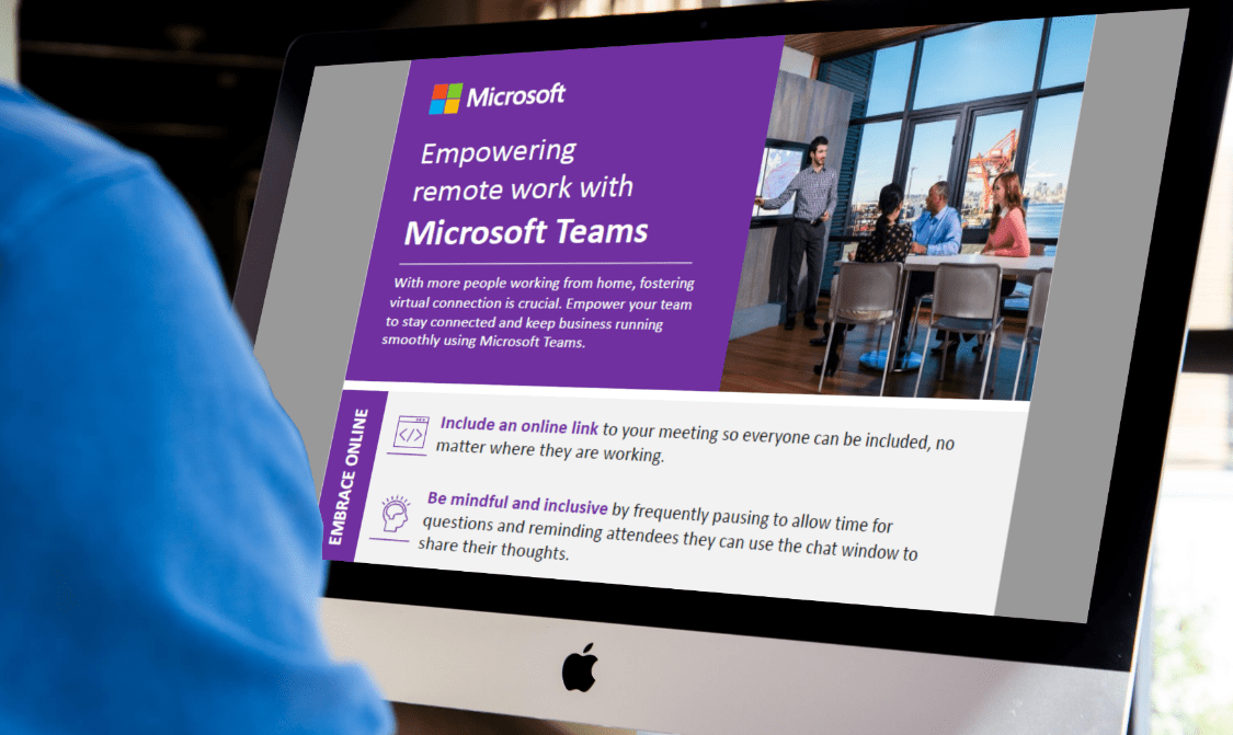 Infographic: Empowering Remote Work with Microsoft Teams
