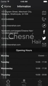 Chesne Hair App