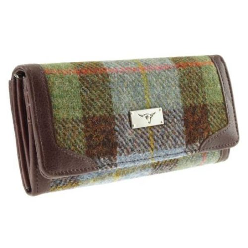 Bute Harris Tweed purse with zip and cardholder Colour 15
