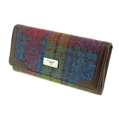 Bute Harris Tweed purse with zip and cardholder Colour 46