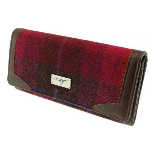 Bute Harris Tweed purse with zip and cardholder Colour 52
