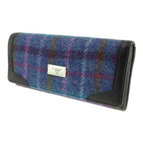 Bute Harris Tweed purse with zip and cardholder Colour 51