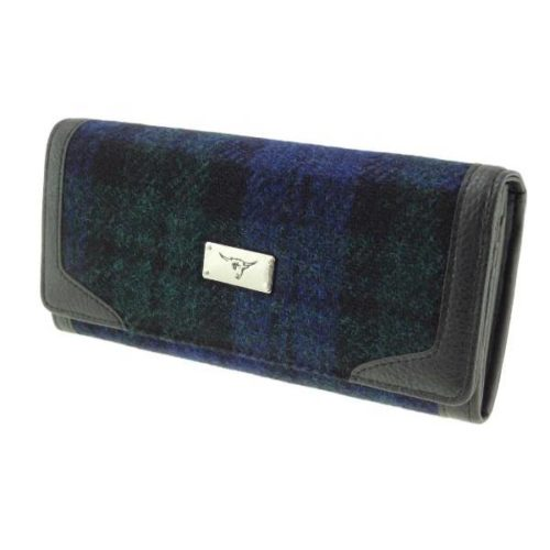 Bute Harris Tweed purse with zip and cardholder Colour 60
