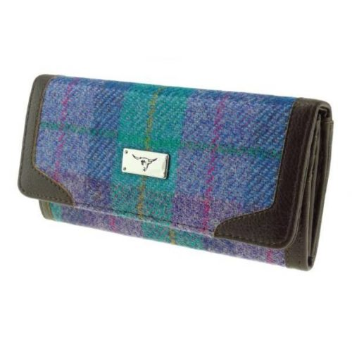 Bute Harris Tweed purse with zip and cardholder Colour 79