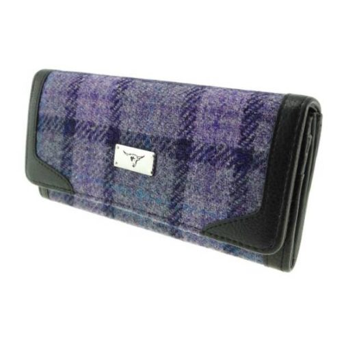 Bute Harris Tweed purse with zip and cardholder Colour 89