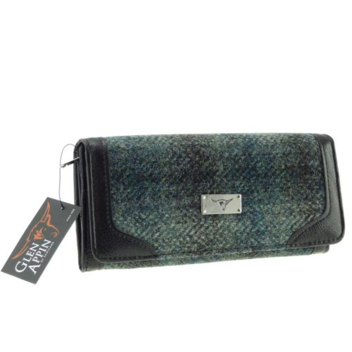 Bute Harris Tweed purse with zip and cardholder Colour 91