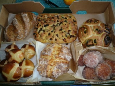 A selection of homemade breads