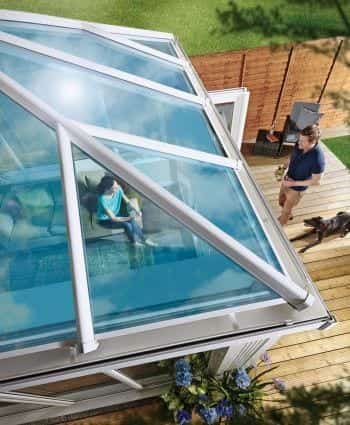 Ultraframe Glass Roof By Ideal Windows And Conservatories