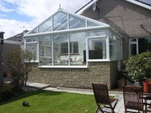 Ideal Conservatories White Gable Front