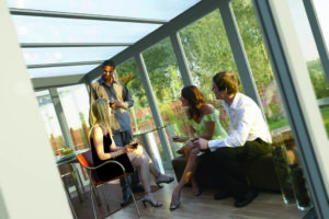 Ideal Windows And Conservatories Lean To Low Pitch glass to ground