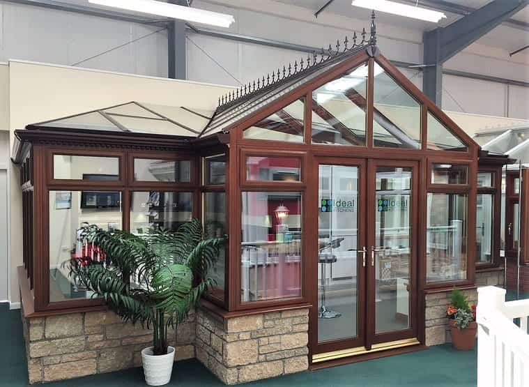 Ideal Windows And Conservaotories Hardwood Conservatory Edinburgh Showroom (Double Hipped Design)