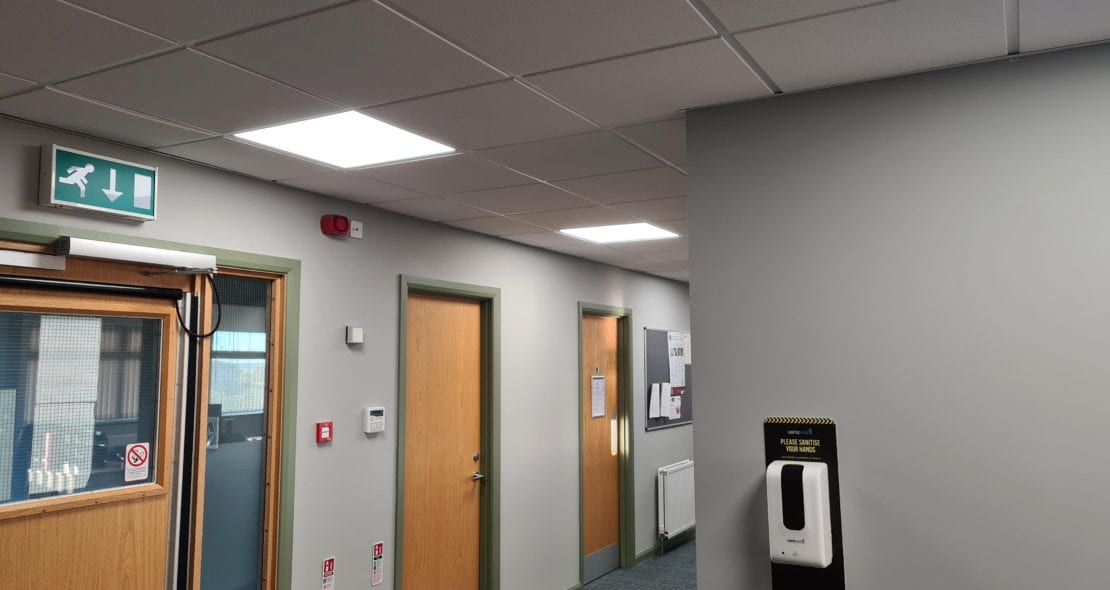 New energy efficient lighting at Brags LCEC in use